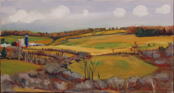 Temma Bell, 'White Clouds over the Farm', 2003