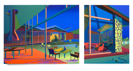 Jonathan Chapline, 'Pool House (Diptych)', 2019