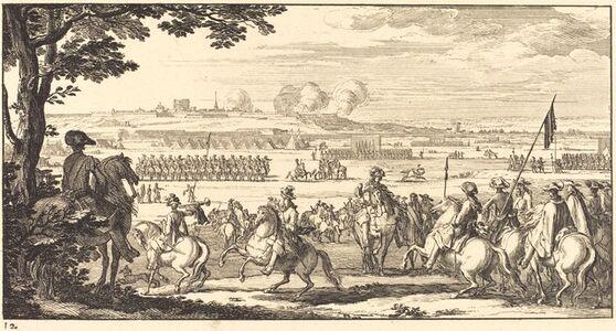 Sébastien Le Clerc I, 'Landscape with an Army', 1673