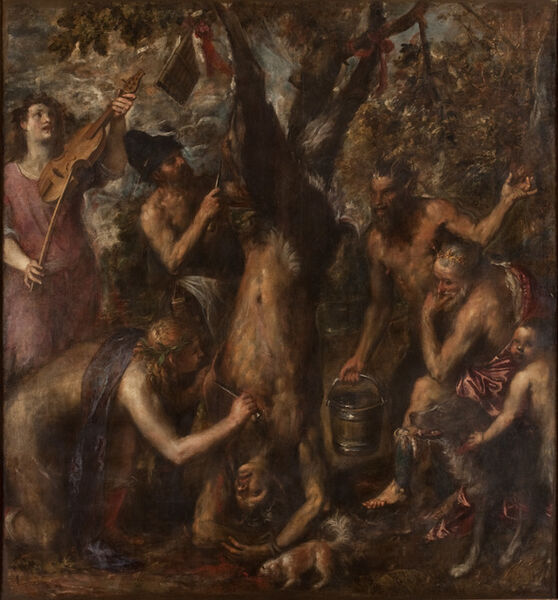 Titian, 'The Flaying of Marsyas ', probably 1570s