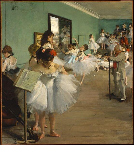 Edgar Degas, 'The Dance Class', 1874
