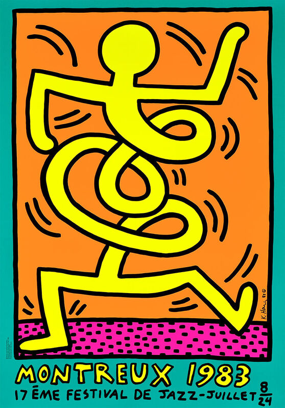 Keith Haring, 'Montreux, 1983 (Green)', 1983, Print, Screen print on paper, ARTETRAMA