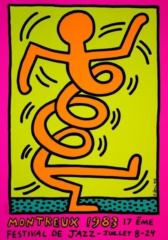 Keith Haring, 'Montreux Jazz festival (set of 3)', 1983, Print, Screen print, Dope! Gallery Gallery Auction