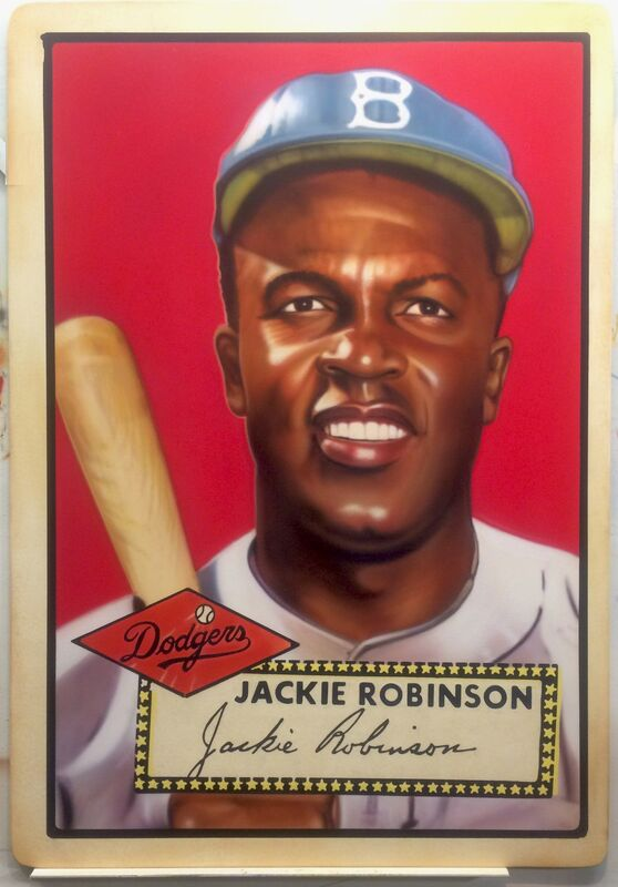 George Mead, '1952 Topps -  Jackie Robinson', 2017, Painting, Acrylic on PVC in Acrylic Case, Axiom Contemporary