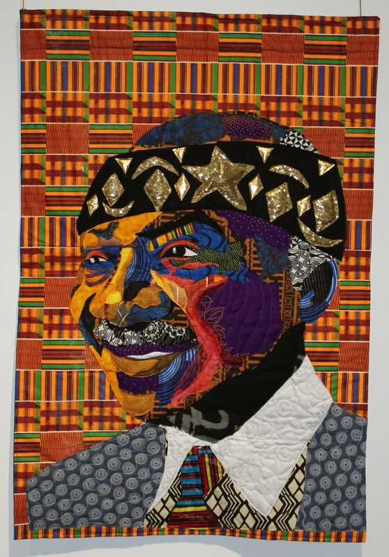 Bisa Butler, 'Zakani', 2016, Mixed Media, Dutch Wax, Cotton, sequins quilted and applique, Richard Beavers Gallery