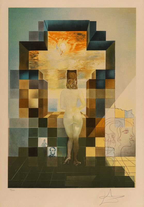 Salvador Dalí, 'Lincoln in Dalivision', 1977, Print, Photolithograph with embossing in colors on Arches paper, Heritage Auctions