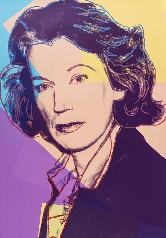 Andy Warhol, 'Mildred Scheel (Feldman and Schellmann 238)', 1980, Print, Screenprint in colours with diamond dust, Forum Auctions