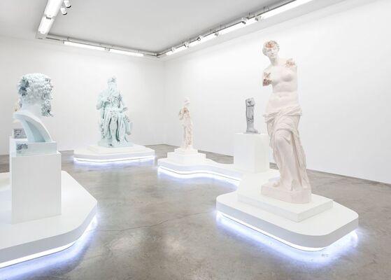 """DANIEL ARSHAM, """"PARIS, 3020"""", installation view"""