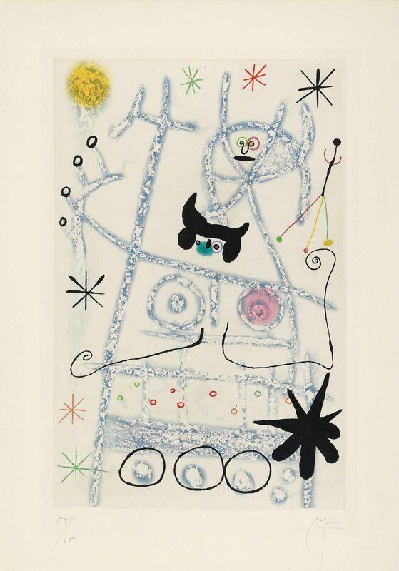 Joan Miró, 'Les Forestiers (bleu)', 1958, Print, Aquatint in colours on BFK Rives wove paper, Christie's