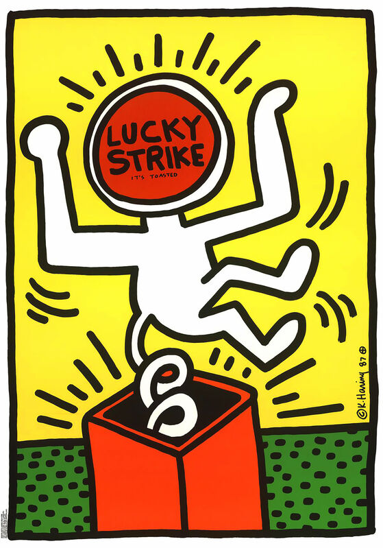 Keith Haring, 'Keith Haring Lucky Strike 1987: Set of 3 ', 1987, Print, Silkscreen in colors (set of 3), Lot 180