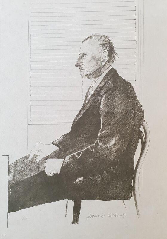 David Hockney, 'Portrait Of Felix Mann', 1969, Print, Lithograph on Japan Paper, Tate Ward Auctions