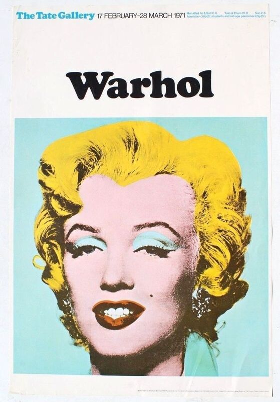 Andy Warhol, 'Marilyn Tate Poster', 1971, Posters, Lithographic print, Gallery 52