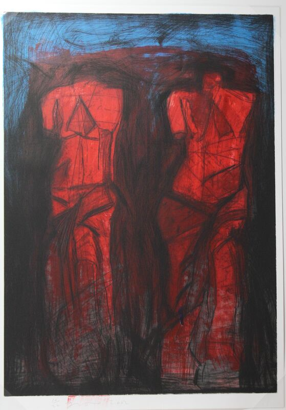 Jim Dine, 'Double Red Venus', 2002, Print, Lithograph and hand coloring on Arches Cover Paper, Hal Katzen Gallery