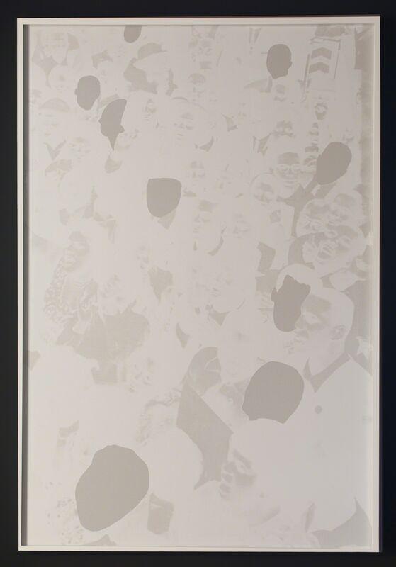 Hank Willis Thomas, 'Intentionally Left Blanc', 2012, Print, Screenprint on retro-reflective paper, Goodman Gallery