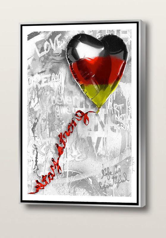 Mr. Brainwash, 'Stay Strong   German Edition', 2020, Painting, Silkscreen on canvas, Frank Fluegel Gallery