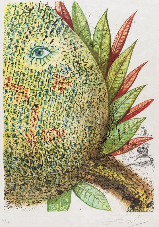 Salvador Dalí, 'Ananas (Field 67-11)', 1967, Print, Photolithograph with etching, Forum Auctions