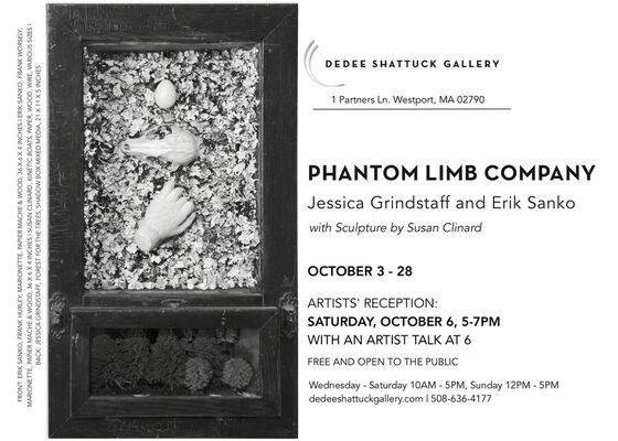 Phantom Limb Company: Jessica Grindstaff and Erik Sanko with Sculpture by Susan Clinard, installation view