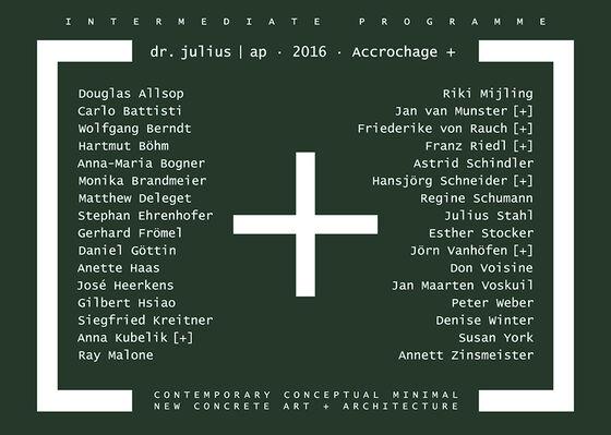 INTERMEDIATE PROGRAMME. dr. julius   ap · 2016 · Accrochage +, installation view