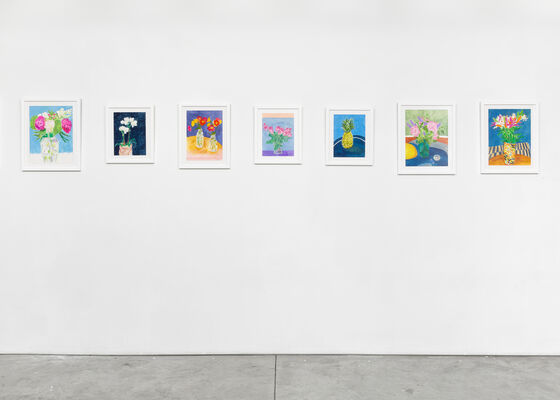 Charlie Scheips: Inventions Fugues Flowers, installation view