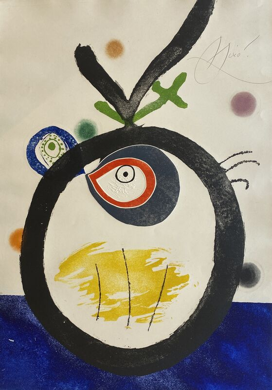 Joan Miró, 'Quatre Colors Aparien El Mon II (Four Colors will Beat the World II)', 1975, Print, Etching and Aquatint with Embossing in Colors on Arches Paper, Denis Bloch Fine Art
