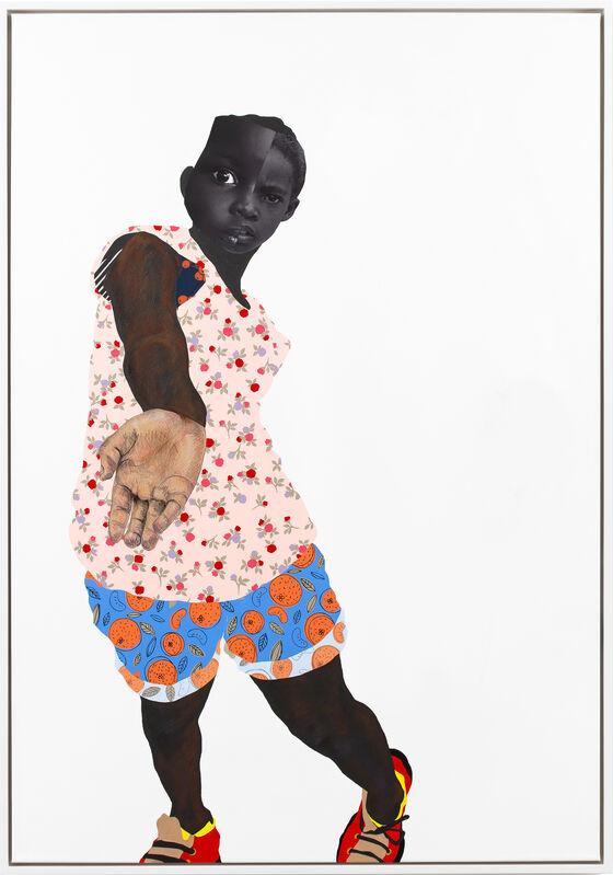 Deborah Roberts, 'True believer', 2020, Mixed Media, Mixed media collage on canvas, Stephen Friedman Gallery