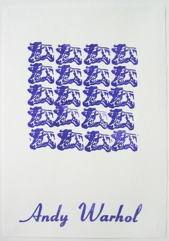 Andy Warhol, 'Purple Cows (FS II.17A)', 1967, Print, Rubber Stamp, Revolver Gallery
