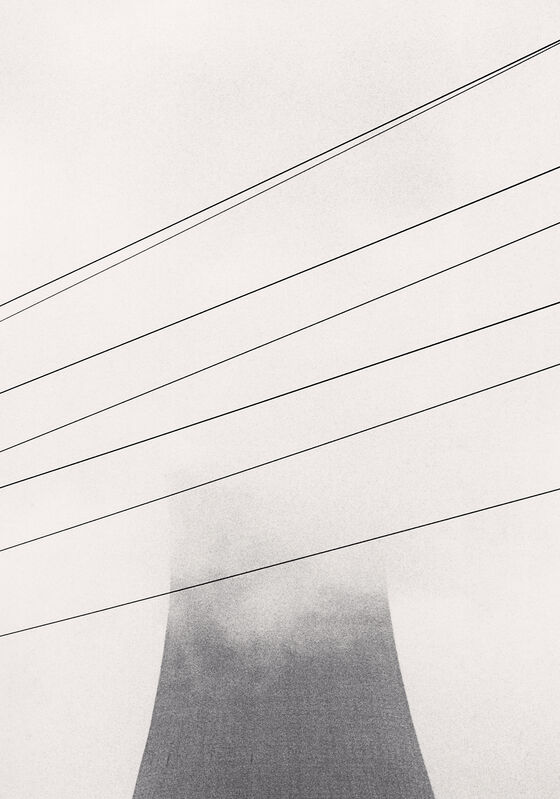 Michael Kenna, 'Ratcliffe Power Station, Study 13, Nottinghamshire, England, 1984', 1984, Photography, Sepia-toned silver gelatin print mounted to archival substrate, Bau-Xi Gallery