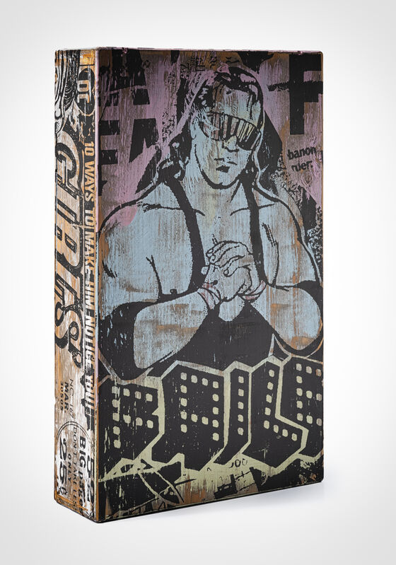 FAILE, 'NYC Box 38 (Butterfly Girl)', 2007, Other, Acrylic and silk screen on wooden box, Tate Ward Auctions
