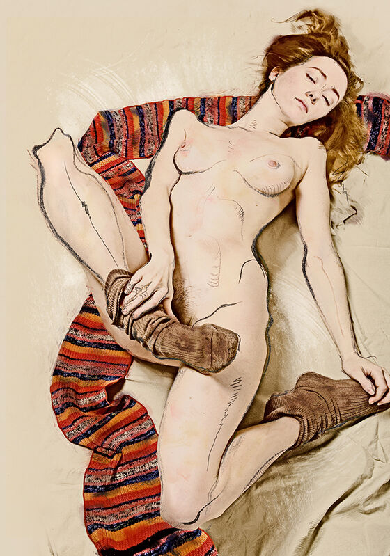Katerina Belkina, 'For Schiele', 2007, Photography, Archival Pigment Print on Hahnemühle Museum Etching, Faur Zsofi Gallery