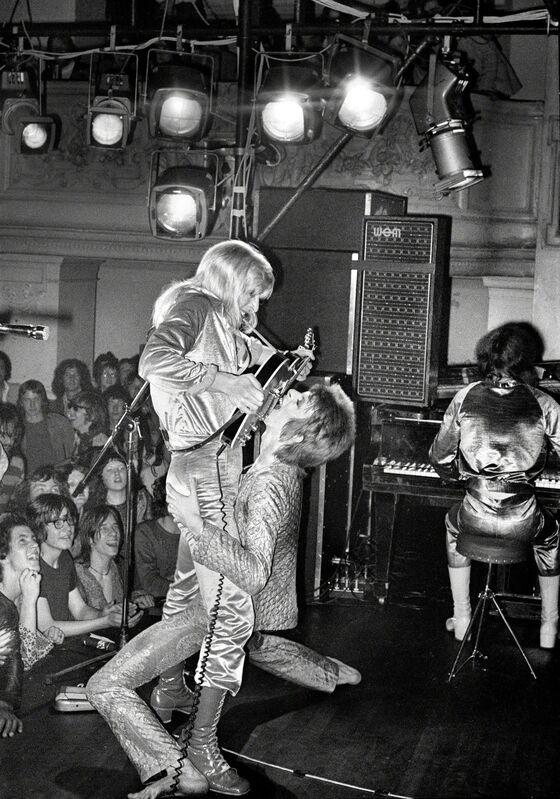Mick Rock, 'Bowie Ronson Guitar Fellatio', 1972, Photography, Archival semi-matte 260gsm, TASCHEN