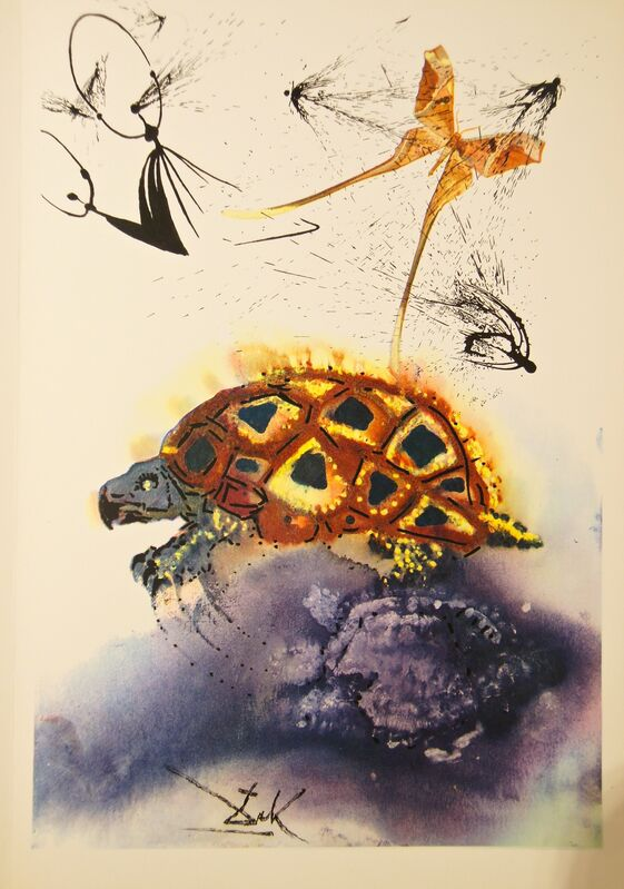 Salvador Dalí, 'The Mock Turtle's Story', 1969, Drawing, Collage or other Work on Paper, Engraving + Heliogravures with original woodcut remarque, Dali Paris