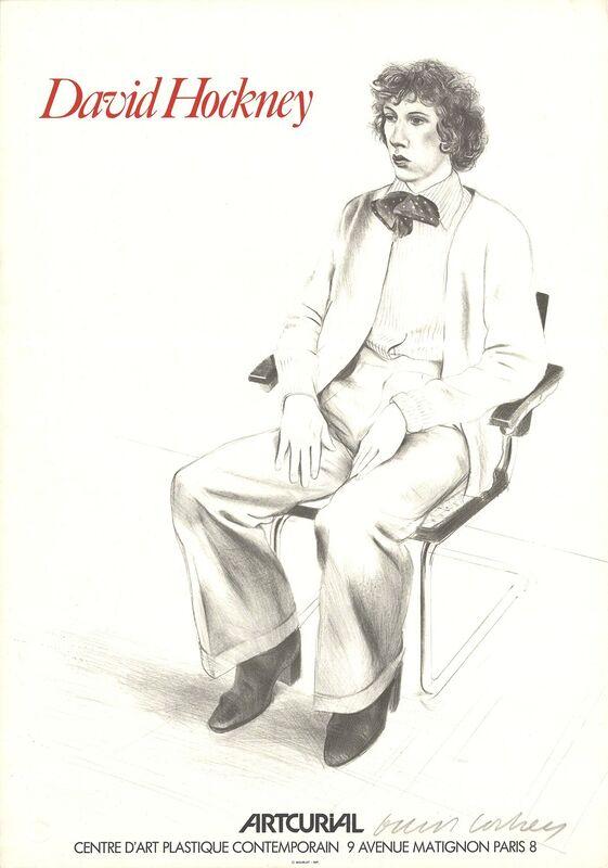 David Hockney, 'Artcurial, Gregory Evans', 1979, Ephemera or Merchandise, Lithograph, ArtWise