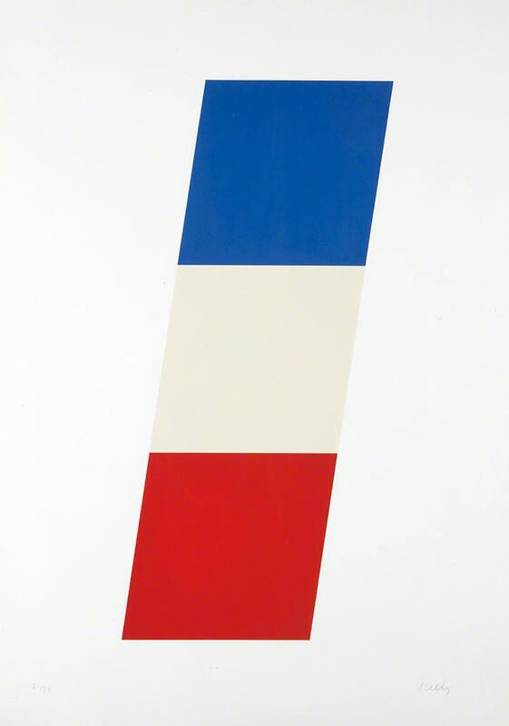 Ellsworth Kelly, 'Blue/White/Red (Axsom #74)', 1970-1971, Print, Color lithograph on Special Arjomari paper Signed and numbered in pencil, Carolina Nitsch Contemporary Art