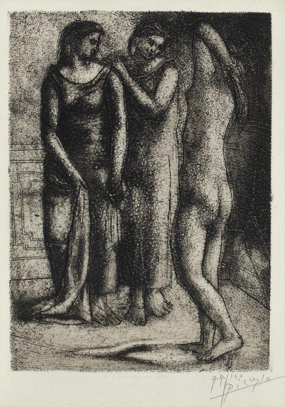 Pablo Picasso, 'Deux Femmes Regardant un Modèle Nu', 1922-23, Print, Etching with drypoint, on laid paper, Christie's