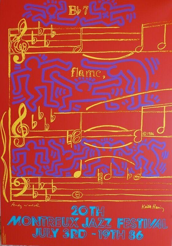 Keith Haring, '20th Montreux Jazz Festival', 1986, Ephemera or Merchandise, Paper, Bengtsson Fine Art