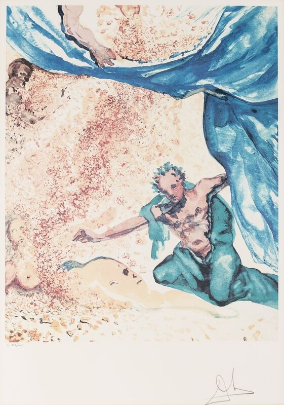 Salvador Dalí, 'Adam and Eve - The Garden of Eden (Field 79-7-C)', 1979, Print, Lithograph printed in colours, Forum Auctions