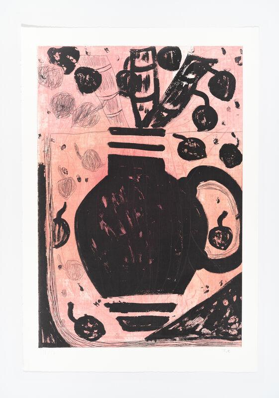 Tal R, 'Blomster uden titel', 2021, Print, Drypoint, sugar lift aquatint, soft ground, BORCH
