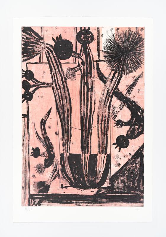 Tal R, 'Blomster uden titel', 2021, Print, Drypoint, sugar lift aquatint, open bite, BORCH
