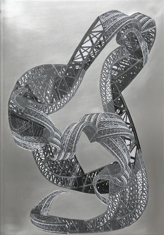 Frauke Dannert, 'Dragon', 2015, Drawing, Collage or other Work on Paper, Collage on aluminium plate, Bourouina