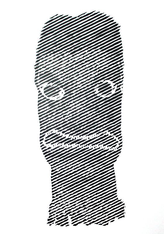 Ian Kuali'i, 'Akua Hulu Manu/Feathered God #4', 2019, Drawing, Collage or other Work on Paper, Cut paper, Hecho a Mano