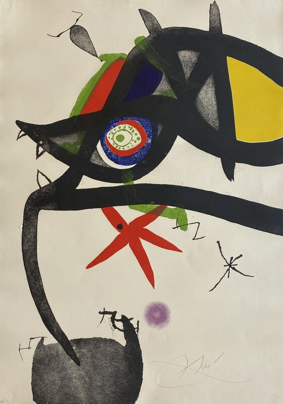 Joan Miró, 'Quatre Colors Aparien El Mon III (Four Colors will Beat the World III)', 1975, Print, Etching and Aquatint with Embossing in Colors on Arches Paper, Denis Bloch Fine Art