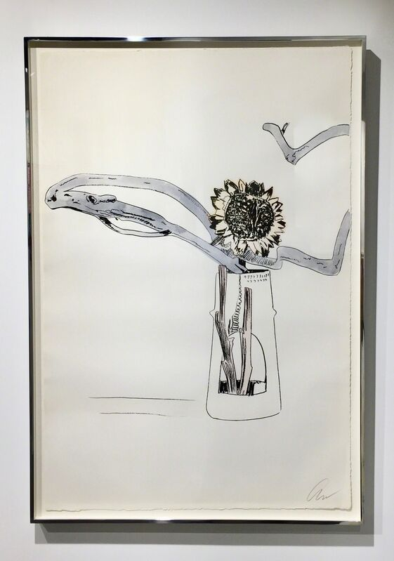 Andy Warhol, 'Flowers - Hand Coloured (F&S II.112) UNIQUE', Print, Screenprint hand coloured with Dr Martin's aniline watercolour dye, Joseph Fine Art LONDON