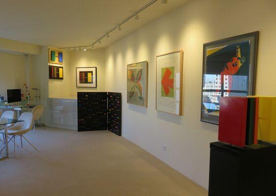Kelly, Stella, Warhol, installation view