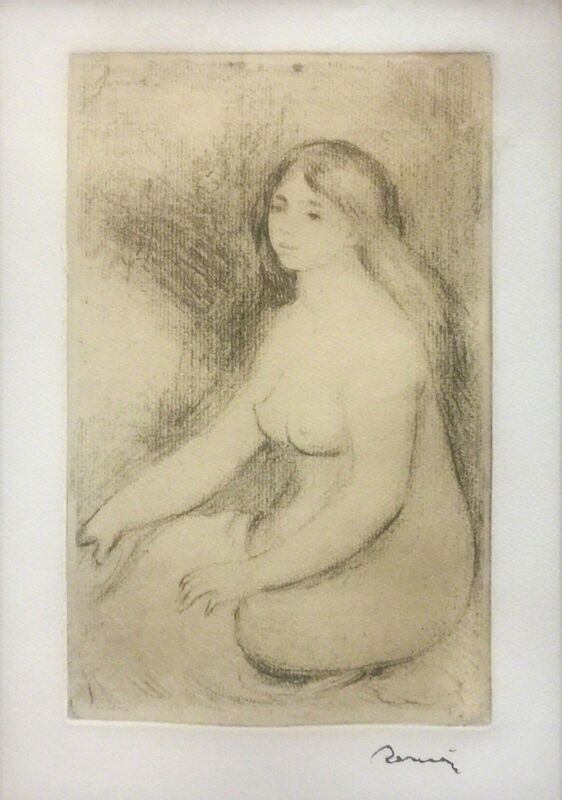 Pierre-Auguste Renoir, 'BAIGNEUSE ASSISE', 1919, Print, SOFTGROUND ETCHING, Gallery Art