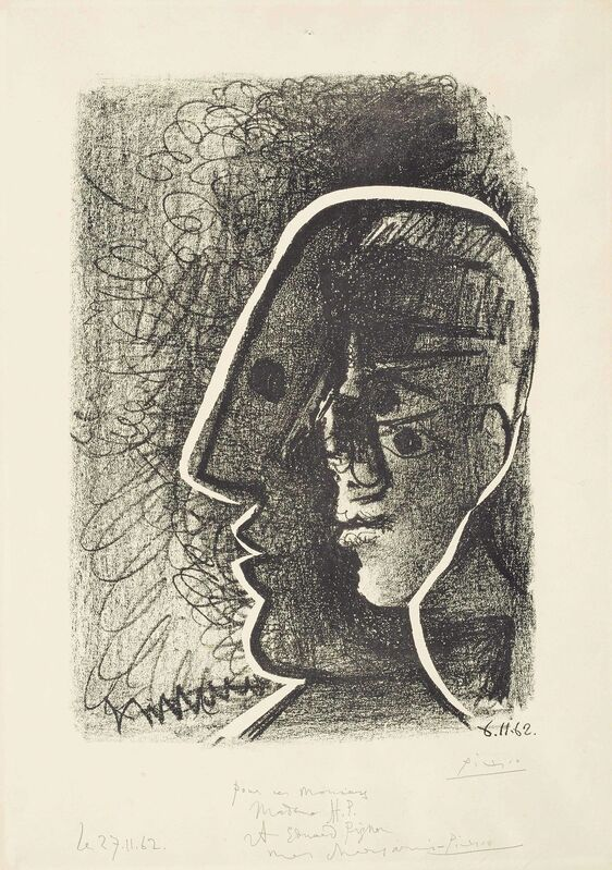 Pablo Picasso, 'Picasso from 1916 to 1961 (Heads of Picasso and Cocteau)', 1962, Print, Lithograph on wove paper, Christie's
