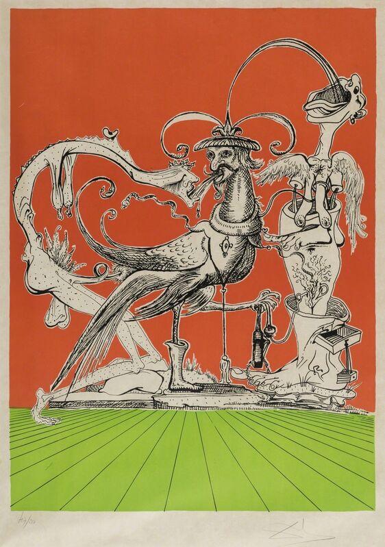 Salvador Dalí, 'A plate, from Les Songes drolatiques de Pantagruel (Field 73-7-H; M&L 1418a)', 1973, Print, Lithograph printed in colours, Forum Auctions