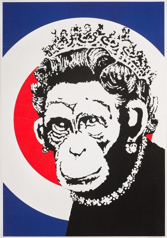 Banksy, 'Monkey Queen', 2003, Print, Screenprint in colours on wove paper., HOFA Gallery (House of Fine Art)