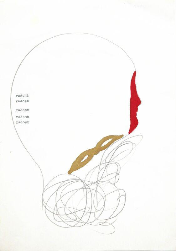 Vlado Martek, 'Die Freude (Joy)', 1987, Drawing, Collage or other Work on Paper, Pencil, varnish, pigment and typewriter on paper, Aanant & Zoo