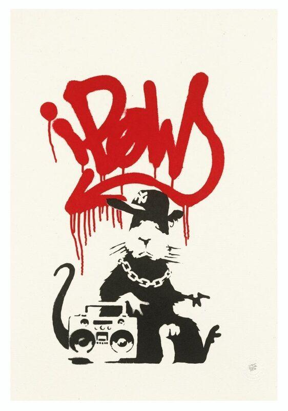 Banksy, 'Gangsta Rat', 2004, Print, Screenprint on wove paper, Gallery Red