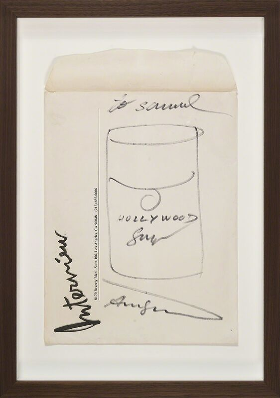 Andy Warhol, 'Untitled (Interview Hollywood Soup)', ca. 1982, Drawing, Collage or other Work on Paper, Felt pen, paper, Artificial Gallery